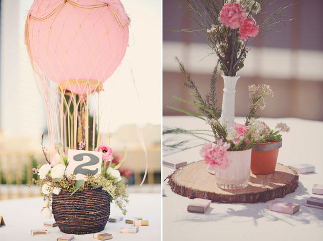 Hot Air Balloon Wedding centrepiece