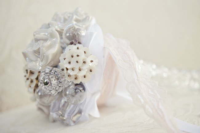 bouquet made from ornate pins