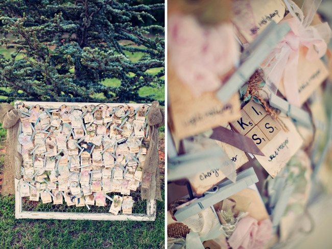 outdoor scrabble tile message board at wedding