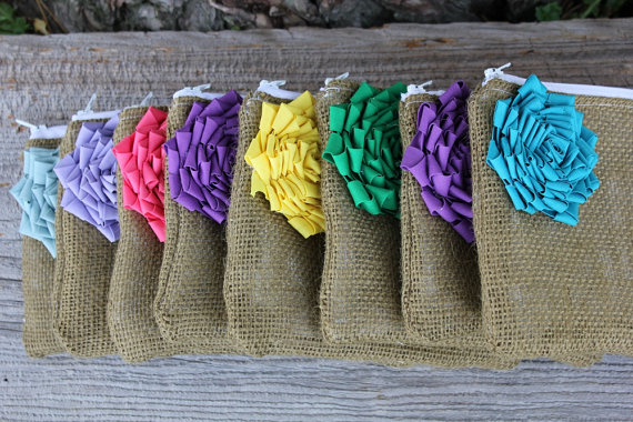8 Rainbow Bridesmaid Clutches