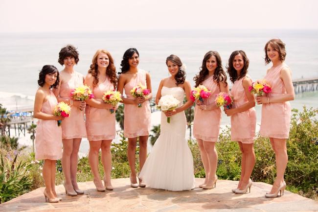 Peach Bridesmaid Dresses for Casa Romantica Wedding