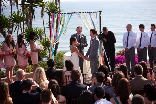 Georgeous sea view backdrop for this Casa Romantica wedding
