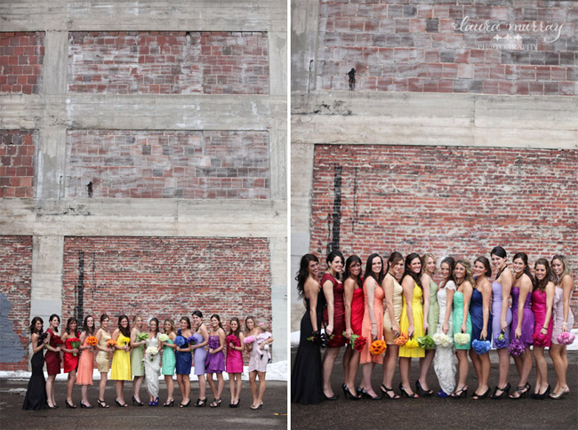 rainbow bridesmaids dresses 2