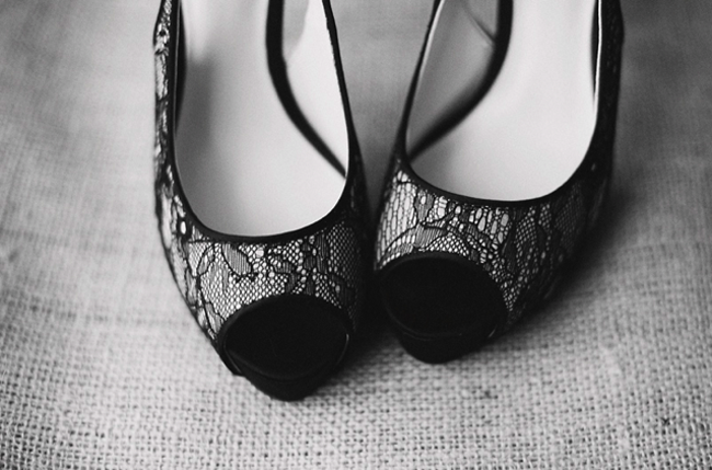black and white wedding shoes