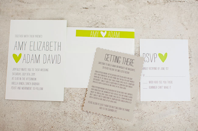 wedding stationery set from Minted.com