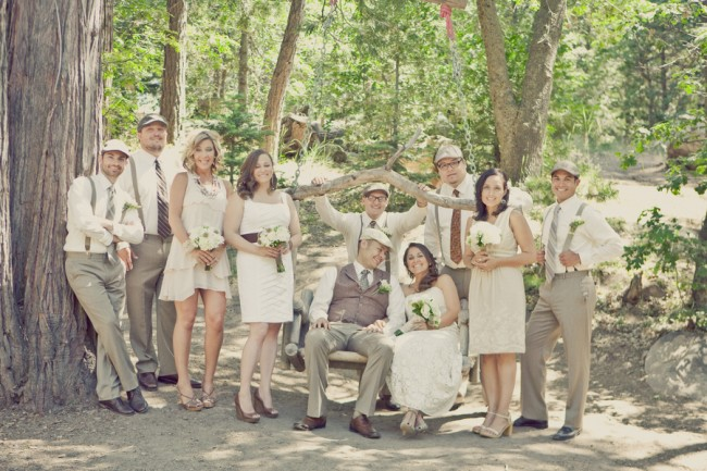 Classic and Beautiful Outdoor Wedding Bridal Party
