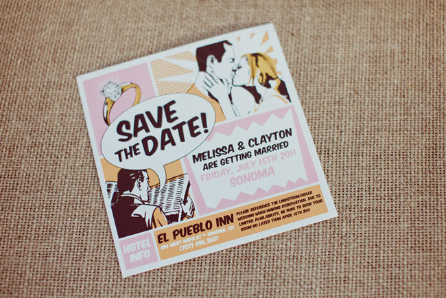 Retro Comic Wedding Save-the-Date
