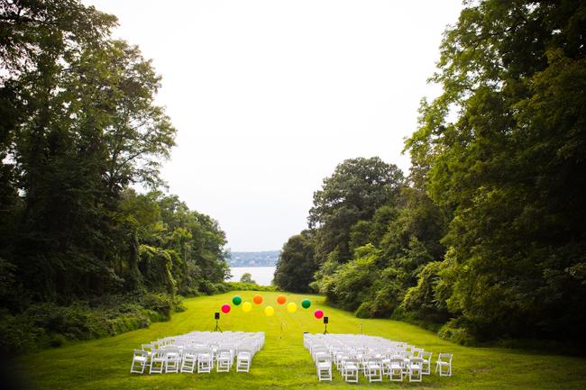 Outdoor Wedding - Balloon Ceremony Backdrop
