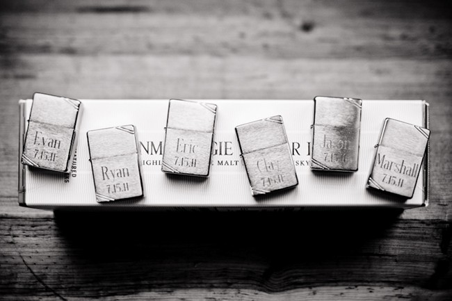 Lighters for groomsment presents with name engraved