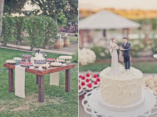 dessert table outdoors at Sogno Del Fiore wedding