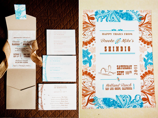 rustic invitation suite design