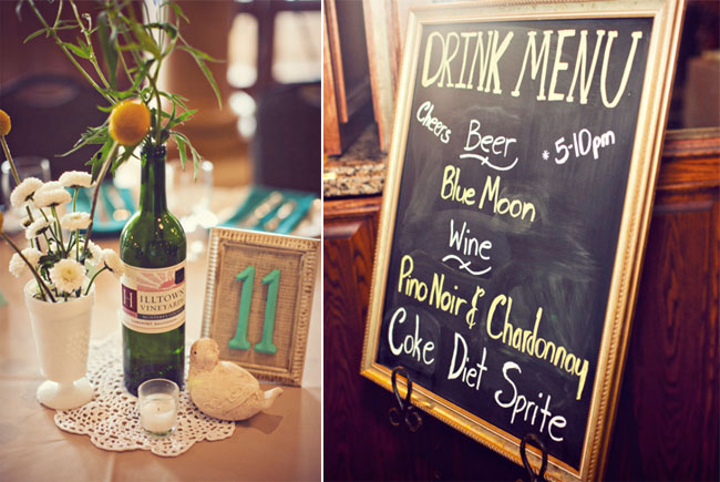 chalkboard drink menu