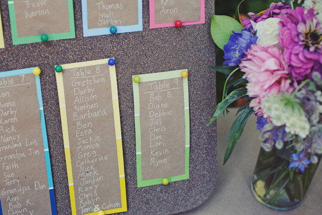 DIY pinboard table seating chart