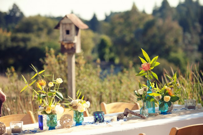 DIY wedding on a budget - table decor