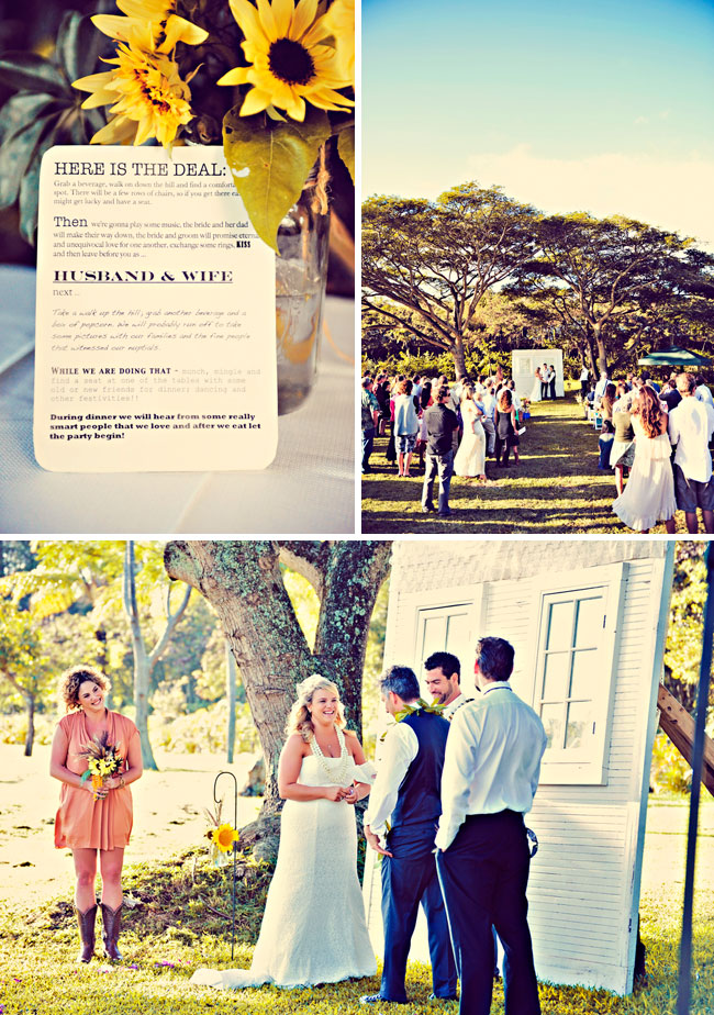 Whimsical Hawaiian Wedding Ceremony