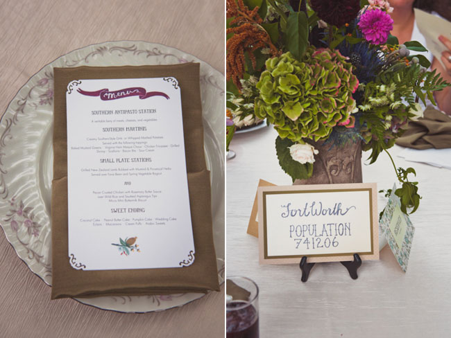 Backyard Wedding With Table Number Cities