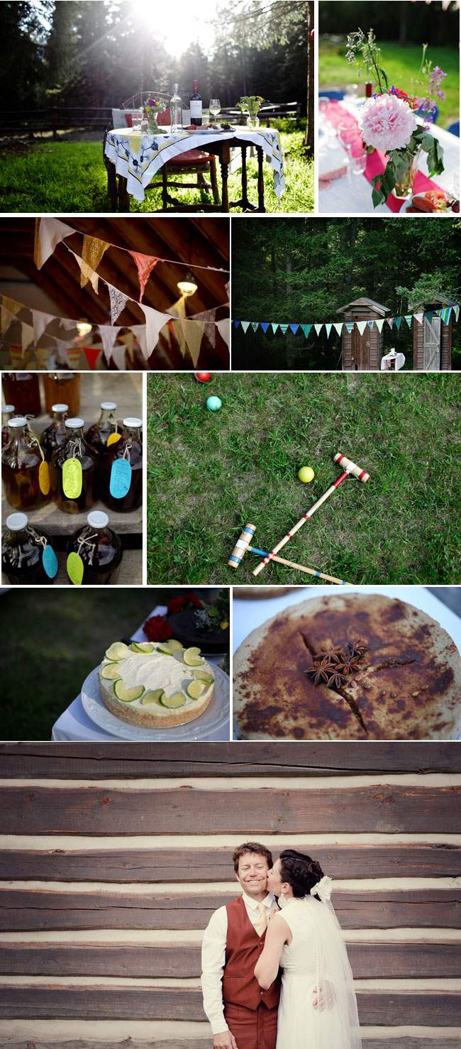 DIY decor, games, and food for Wedding at Nipika Rocky Mountain Resort