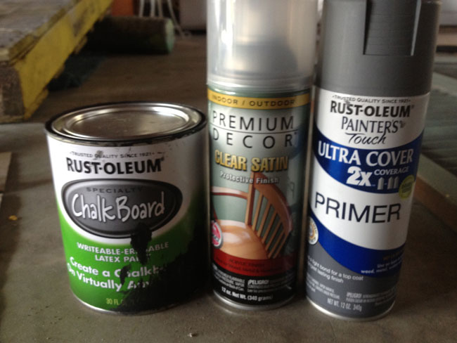chalkboard paint and primer