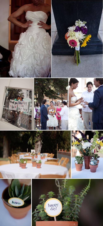 Thrifty DIY Wedding attire, flash mob ceremony, and reception decor
