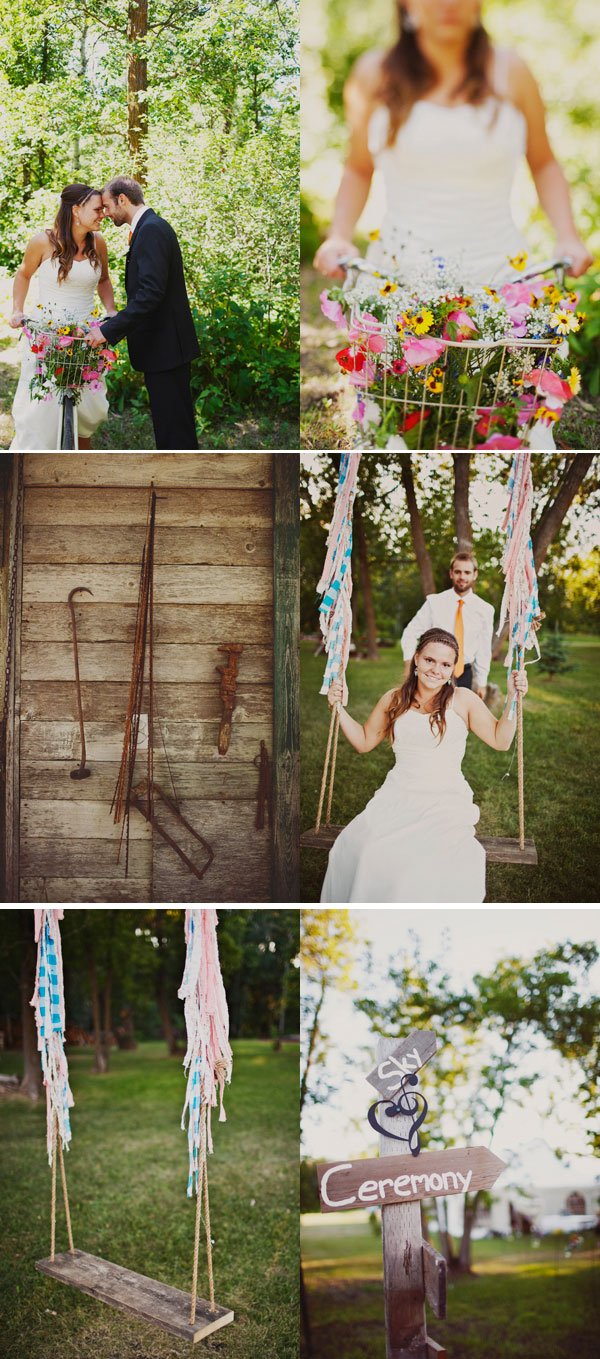 Backyard DIY Wedding bride and groom