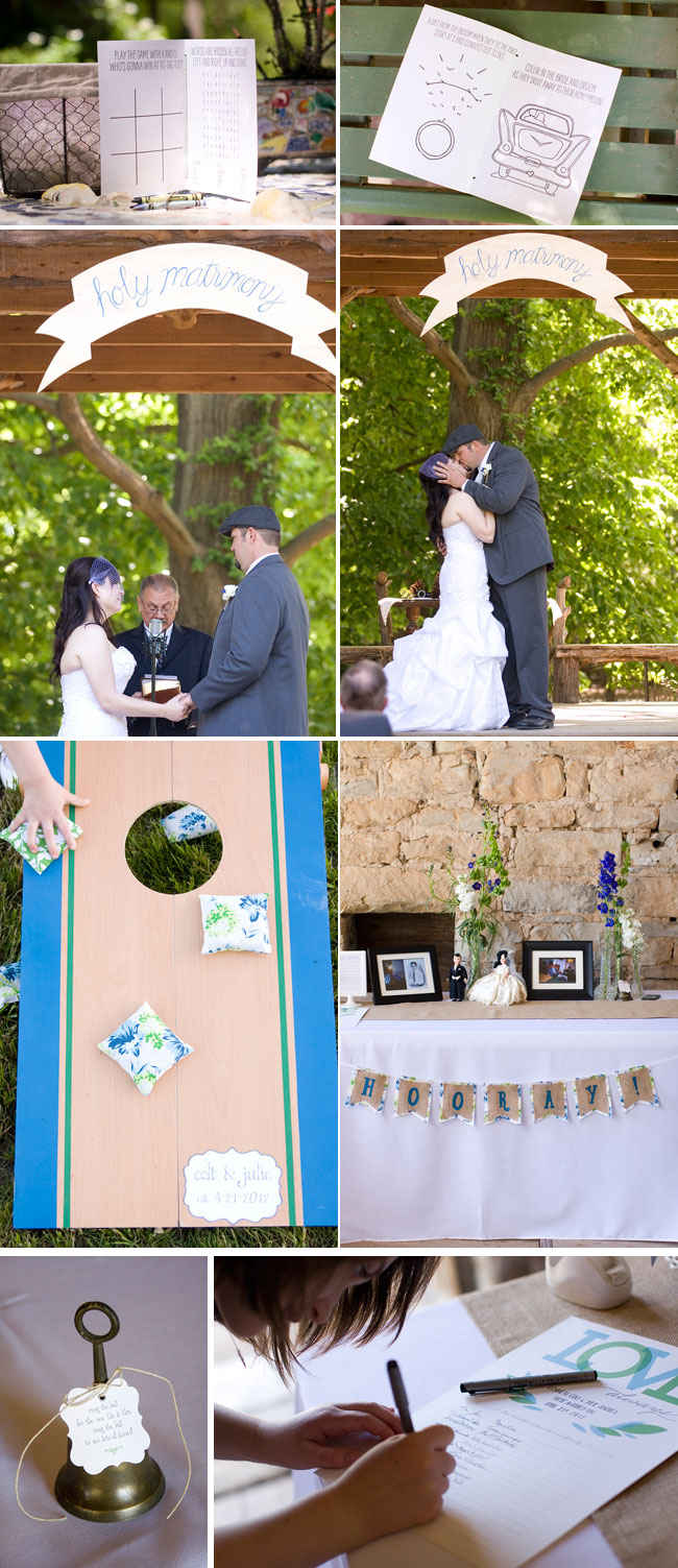 Vintage DIY Wedding ceremony, cake, reception