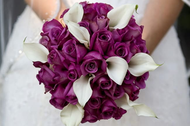 Purple-Rose-Wedding-Bouquet