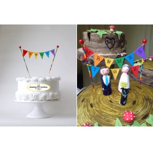 rainbow cake toppers
