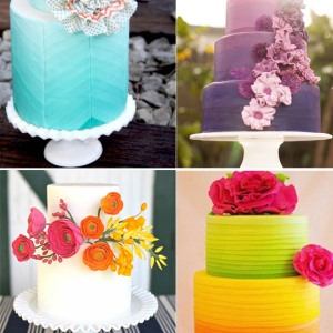 rainbow wedding cakes