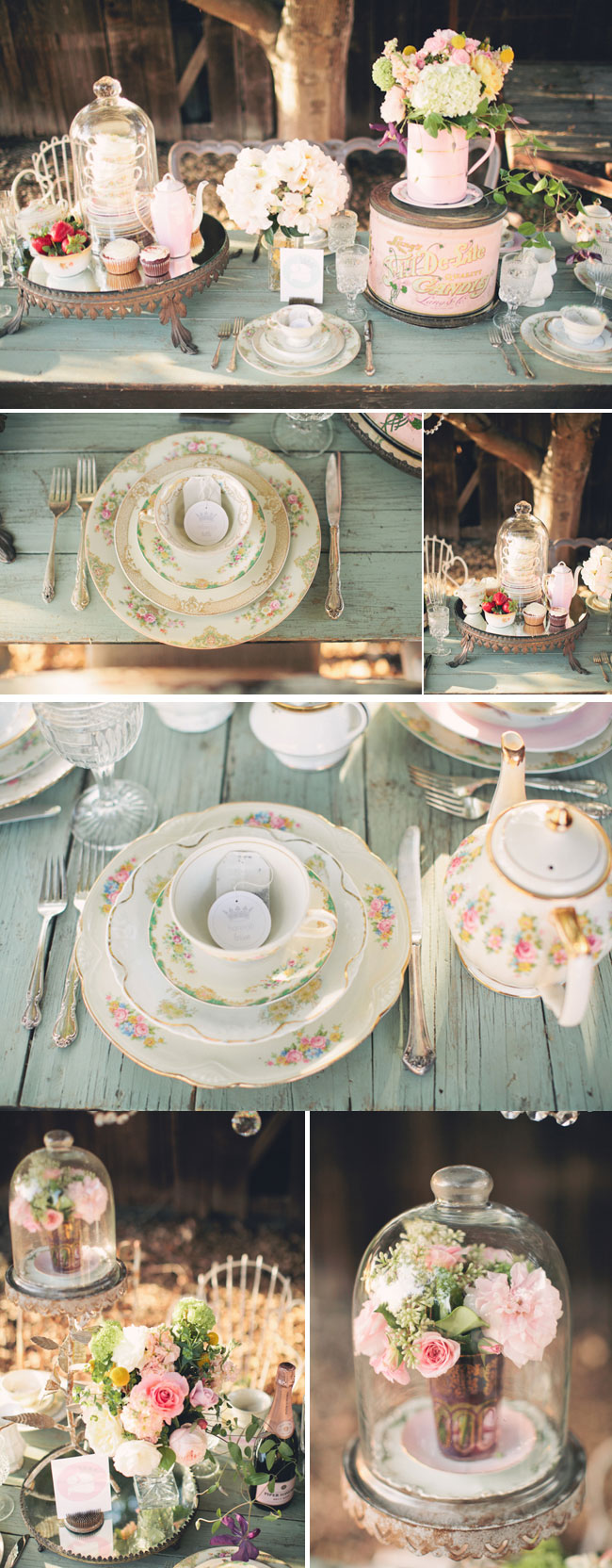 outdoor styled tea party shoot