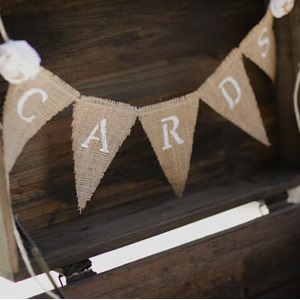 card holder for vintage wedding