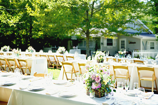 Intimate and Romantic Wedding table settings
