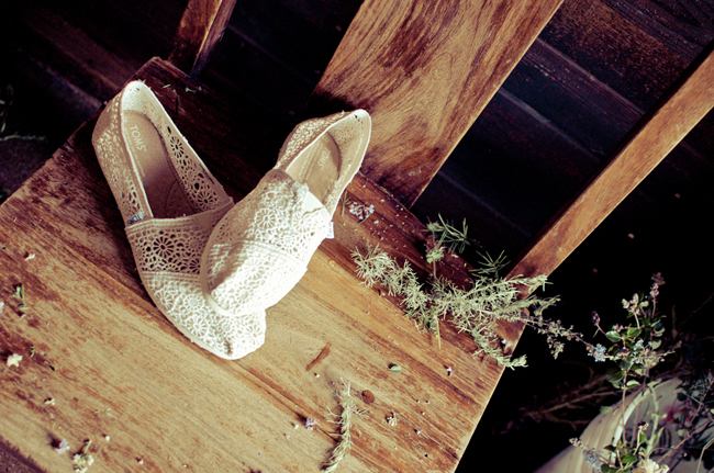 Toms crochet Bridal shoe