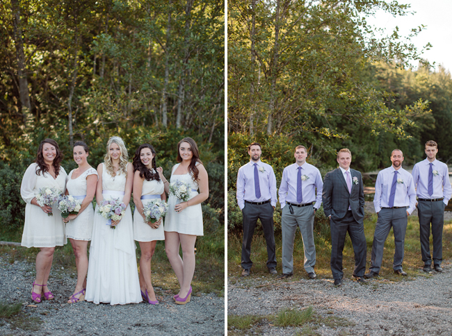 photos of Bowen Island wedding bridal party