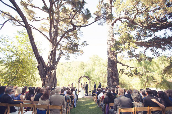 outdoor ceremony for wedding at Radonich Ranch