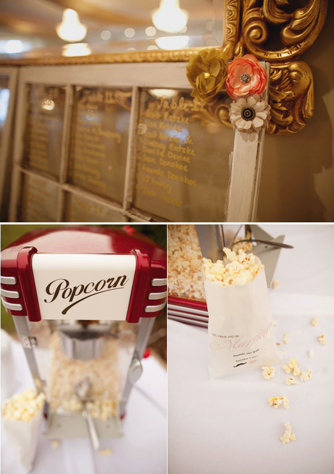 Reception with popcorn machine for wedding at West Manor Estate