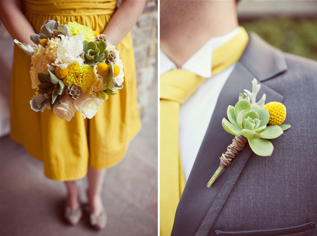 succulent and billy ball boutonniere