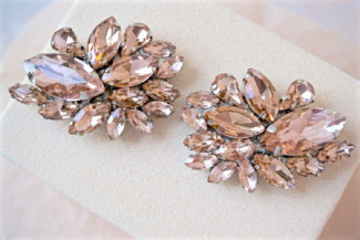 blush rhinestone shoe clips