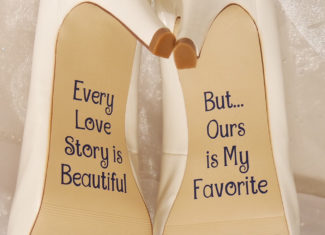 shoe decals for wedding heels