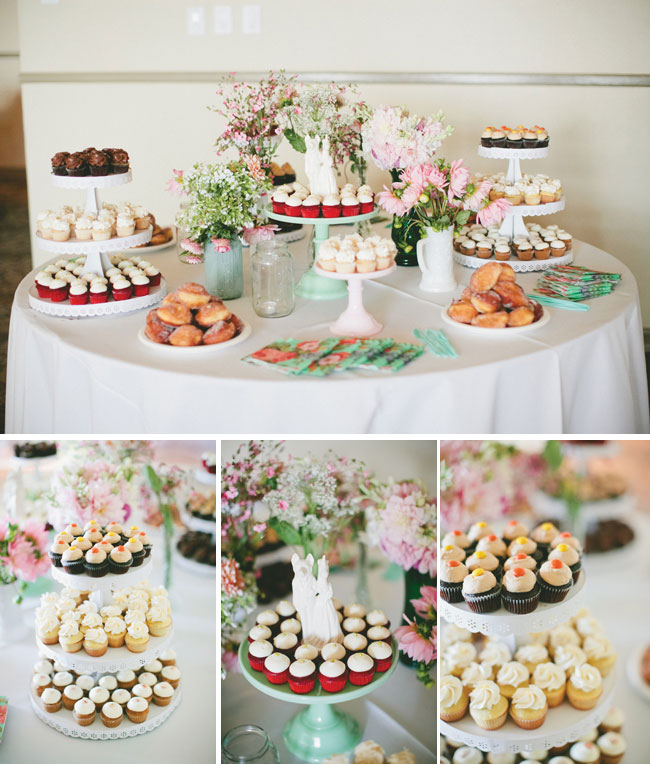 wedding cupcakes and donutes by The Heart Baker