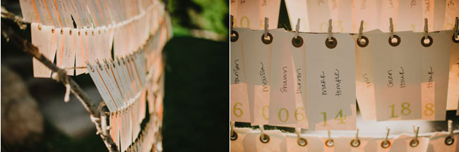 hanging paper name cards for wedding