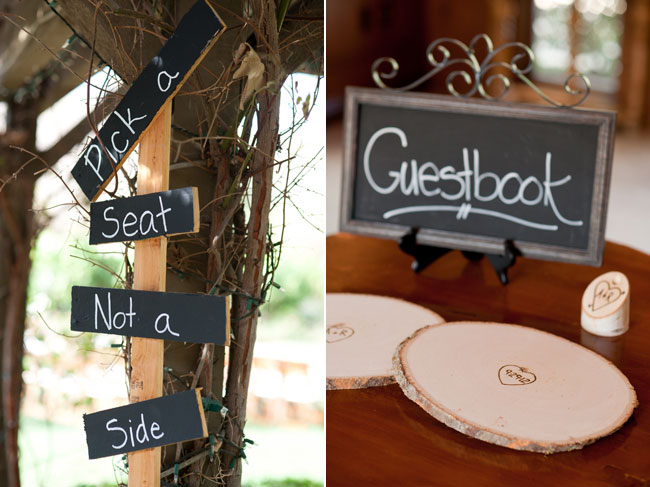 unique wood slices wedding guest book