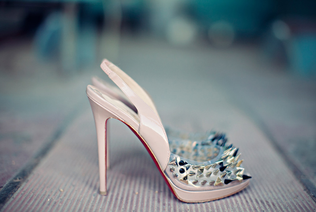 Christian Louboutin wedding shoes with spikes