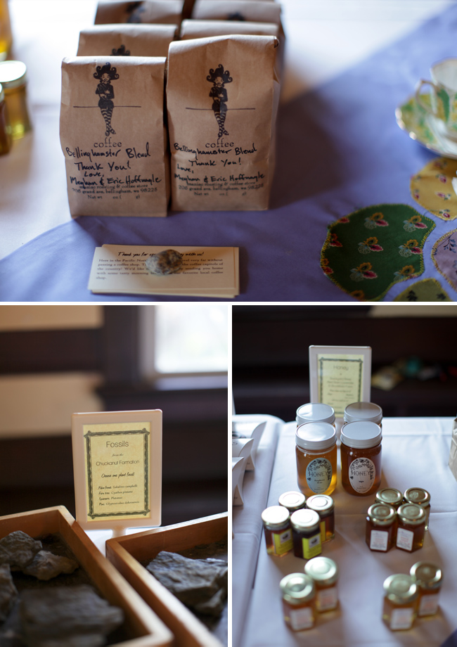 variety of favors including bellingham coffee blend and honey jars