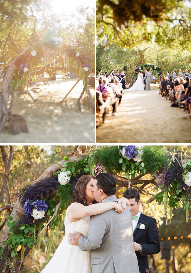 Outdoor budget friendly wedding ceremony in California