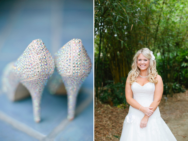studded silver bridal heels