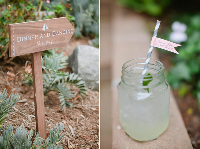 mason jar with custom straw and lemonade