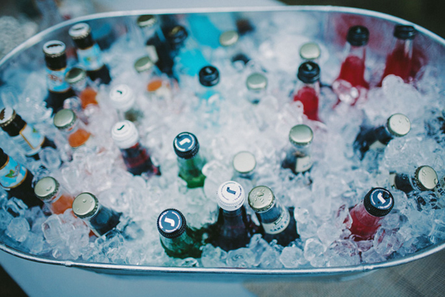 tub full of ice and bottles