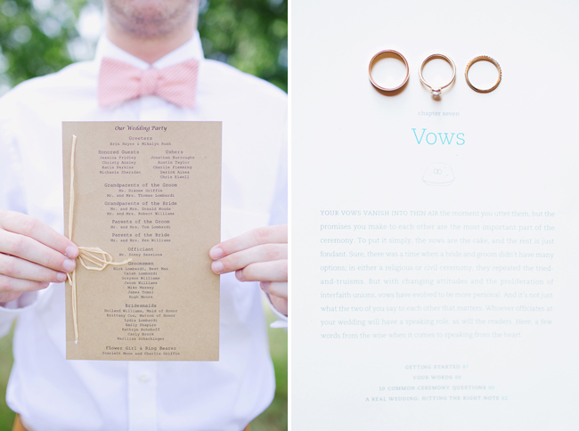 program and vows