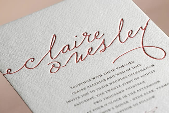 letterpress invite from Minted