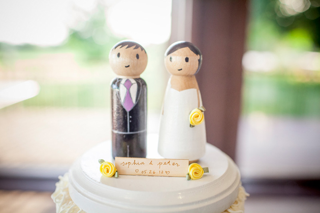 cake topper wood figures